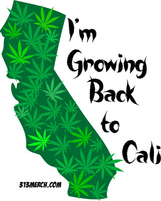 I'M GROWING BACK TO CALI T-SHIRT