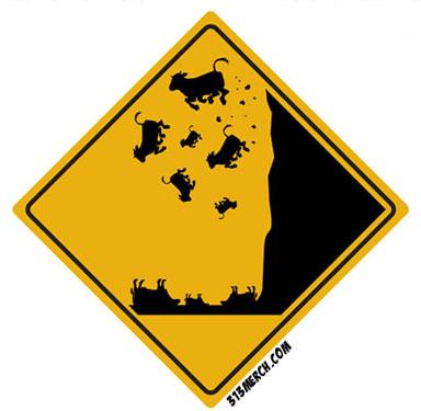 Suicidal Cows