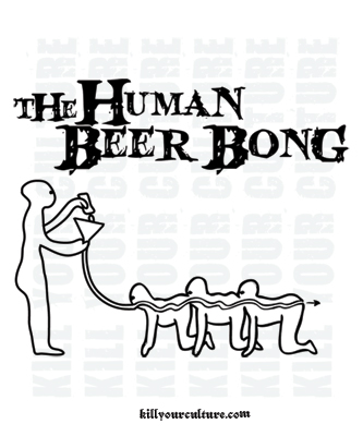 The Human Beer Bong T Shirt