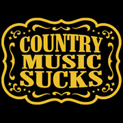 Country Music Sucks Baby Doll t Shirt